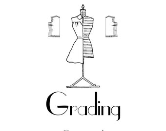 Vintage Sewing Pattern Grading E-book - INSTANT DOWNLOAD