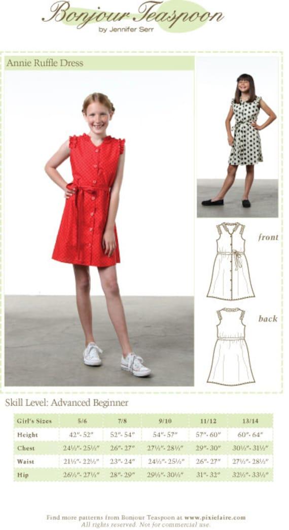 Mädchen Kleid Schnittmuster Tween Kleid Schnittmuster Tween