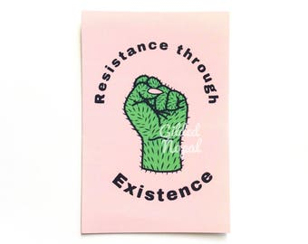 Resistance through Existence Postcard // Power to the People Print
