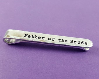 Personalized Tie Clip - Tie Bar - Father's Day Gift - Groom - Father of the Bride Gift - Dad Gift  - Engraved Tie Clip - Groomsmen