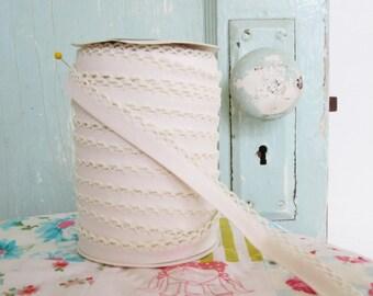 Muslin Crochet Edge Bias  Tape (No. 48)  Double Fold Bias Tape  Quilt Binding  Sewing Supplies  Dress Making  Doll Making  Clothing Supplies