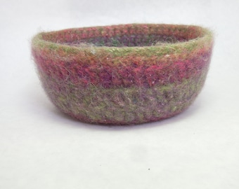 Rainbow Wool Felted Bowl