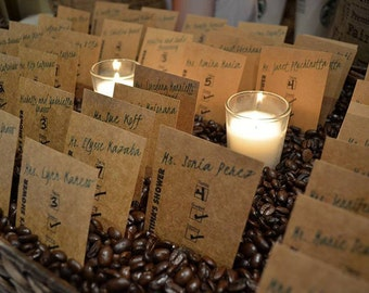 Coffee Themed Party Place Card