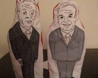 Jean Chretien and Paul Martin, Liberal PMs finger puppet set