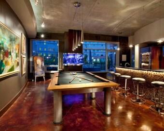 Contemporary Brunswick Manhattan Pool Table 8ft