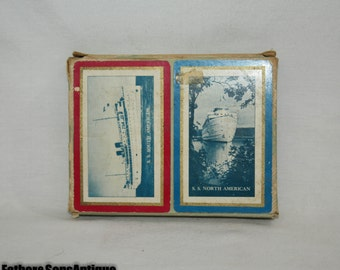 """NOS """"S.S. North & South American""""  Double deck Playing Cards"""