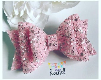 Pale Pink Double Dolly Bow