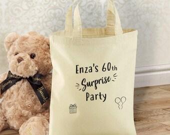 Personalised 100% Cotton Tote Bag | Gift bag | Stocking | Shopping