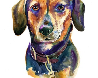 Custom Portraits  - Pet Portrait - Watercolor Painting - Painting - Dog Portrait