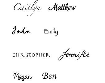 Custom Name Tattoo - Personalized Name Temporary Tattoo - Word Tattoo