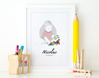 Kids personalized poster + name