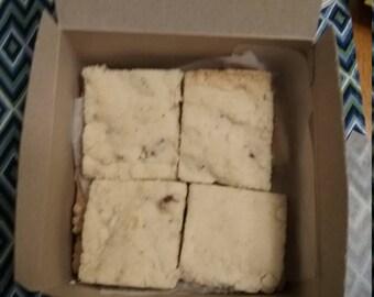 Homemade Scottish Shortbread  - Regular, Lemon, Peppermint and Pecan Flavors