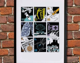 The Elements and Radioactivity - Giclee Print (Unframed)