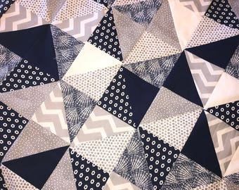 Triangle Patchwork Quilt
