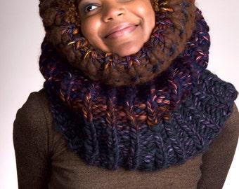 Bulky Scarf, Chunky Knit Scarf, Knit Infinity Scarf, Knit Chunky Scarf, Knit Cowl Chunky, Knit Cowl, Knit Chunky Cowl - Winter Nights #3