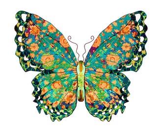 11x14 Teal Springs Butterfly Print