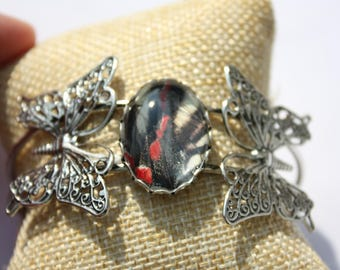 Zebra Swallowtail Butterfly Bangle  060
