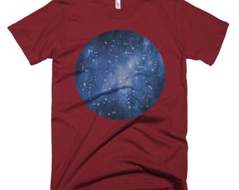 Star Map mens tshirt celestial map constellation tee solar system astronomy gifts for men outer space gifts for him star chart gift under 25