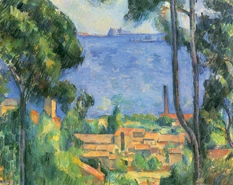 Paul Cezanne: L'estaque. Fine Art Print/Poster (001028)