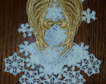 Free Standing Lace Snow Angel