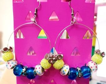 Neon hope earrings