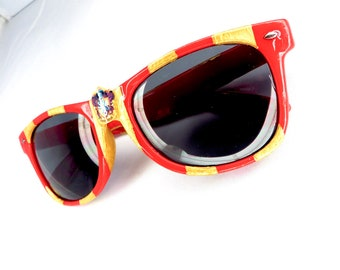 Gryffindor Harry Potter Inspired Red and Gold Striped Nerd Sunglasses