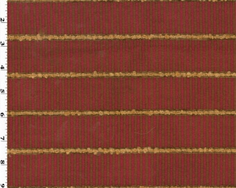 Red Designer Bisanto Stripe Home Decorating Fabric, Fabric By The Yard