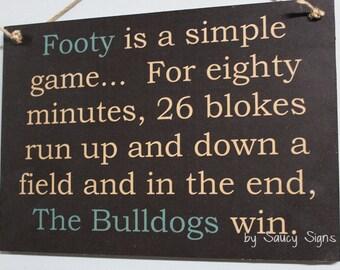 Canterbury Bulldogs Simple Game Rugby League Footy Football Sign Bar Pub Man Cave