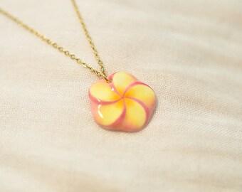 Plumeria at Sunset (Necklace)