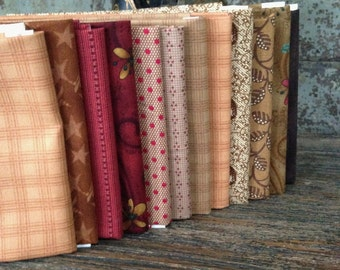 Fabric: FAT QUARTER Sampler Bundle Festive Fall Selection - Lecien/Buggy Barn/Windham Fabrics