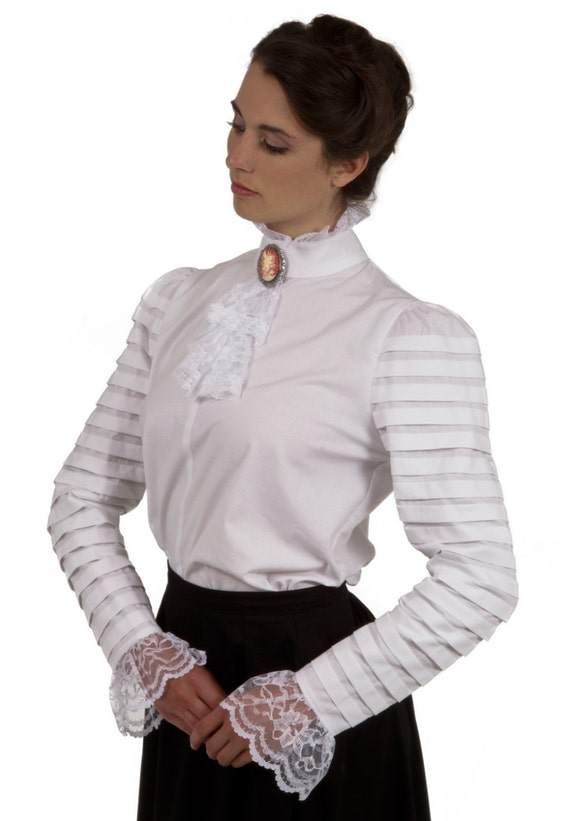 Edwardian Blouses |  Lace Blouses & Sweaters Blanche Edwardian Blouse $75.00 AT vintagedancer.com
