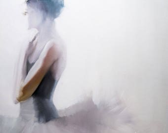 Contemporary dance print, Figurative painting print, Ballet dancer gift, Canvas Wall Art