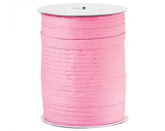 Pink , Paper Raffia Ribbon 100Yd , Raffia Ribbon - Wraphia