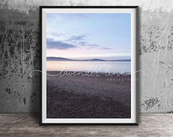 CHASING TWILIGHT, Colour Photography Print, Coastal Photography, Dreamy Sunset, Beach, Holywood, Wanderlust, Northern Ireland, Wall Art