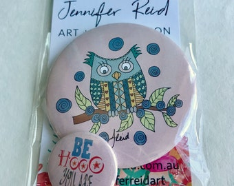 Be Hooo You Are Owl Button Pack