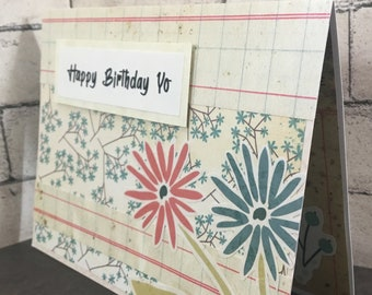 Happy Birthday Yo - handmade card