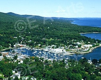 Camden Maine Aerial View Maine Panoramic Photography  Paul Vose captivates with this breath taking aerial view of Camden