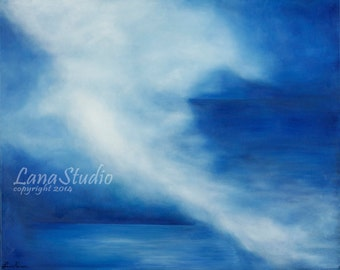 Peaceful Storm -- Large Stretched Canvas Print of Original Oil Painting  12X16 to 24X32