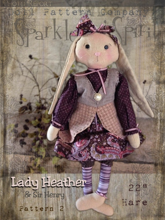 """Pattern: Lady Heather - 20"""" Girl Hare"""