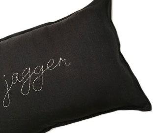 CUSTOM Handstitched Cushion cover- BLACK