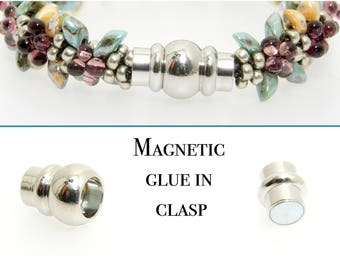 Glue in magnatic Clasp in, ideal for Kumihimo!