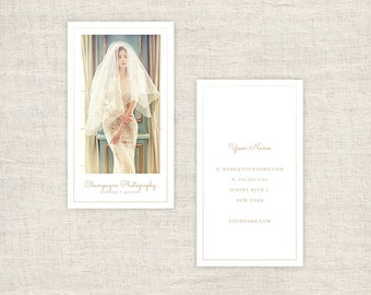 Minimal Vertical Photography Business Cards Template  - Wedding Photographer Marketing Templates, Photography Branding - INSTANT DOWNLOAD