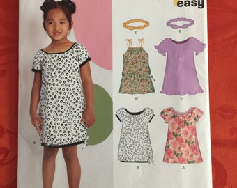 6882 Simplicity New Look Girls' Dress  Sewing Pattern  P213