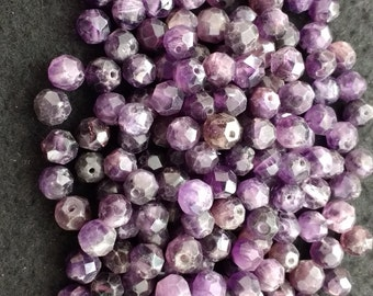 Vintage Amethyst 6mm Faceted Rounds
