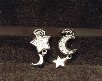 Mini Dangle Moon & Star Earrings