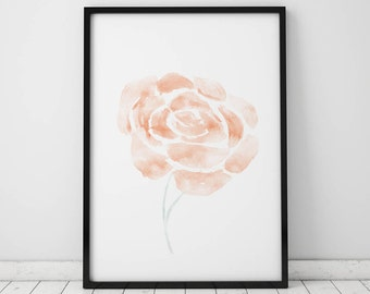 Abstract Floral Watercolor INSTANT DOWNLOAD Art, Watercolor Printables, Watercolor Art, Flower Print, Gallery Wall, Flower Watercolor