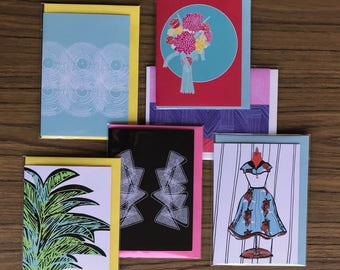 Assorted Six Greeting Cards deal for those who love to give gifts and mark special occasions with a greeting card Pack No 20