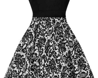Black and white lace tea dress
