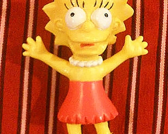 Lisa Simpson Action Figure - The Simpsons - from 1990 - The Simpsons Collectable Figurine - Cartoon Character - Plastic Doll