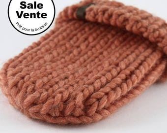 SALE  / The Ribbed Beanie in light orange / Ready to ship